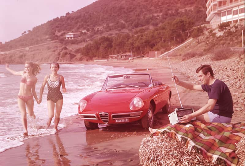 Alfa Romeo Duetto and the Graduate - 1966